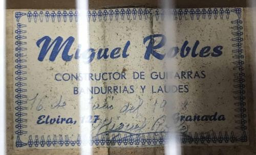 1968 Miguel Robles Flamenco Guitar Signed
