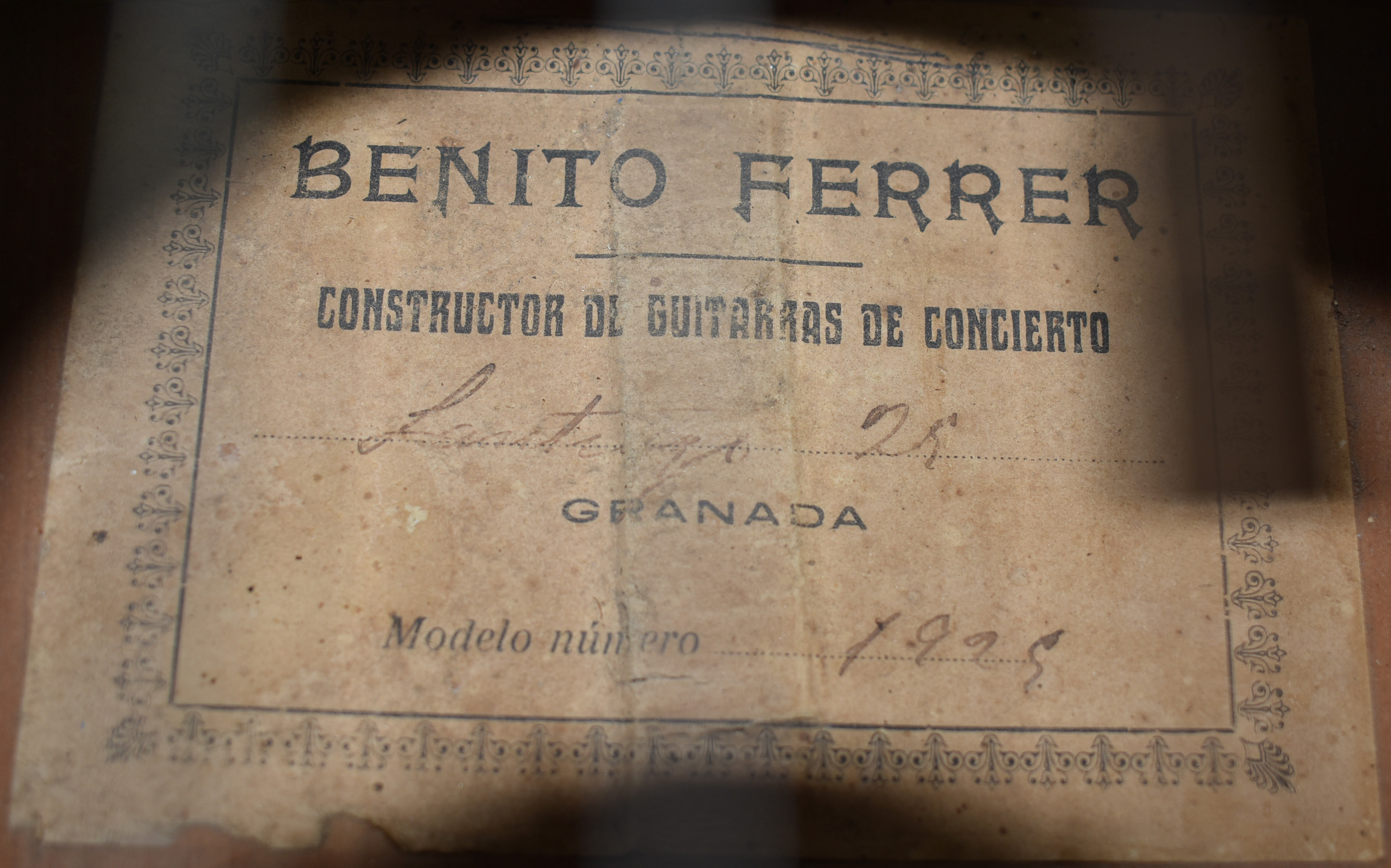 1925 Benito Ferrer Flamenco Guitar with Pegs